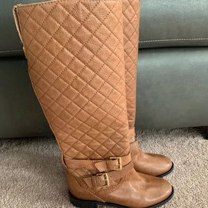 Kate spade Sutton brown leather riding boots 5 new